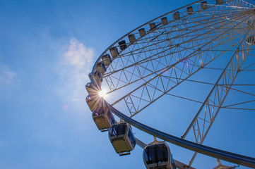 Sillouette of The Yorkshire Wheel, York, England