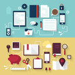 Flat modern design vector concept of business elements
