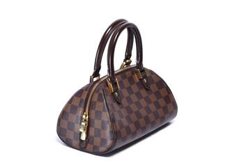 Woman brown leather handbag