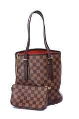 Woman brown leather handbag