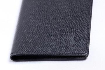 Black empty wallet