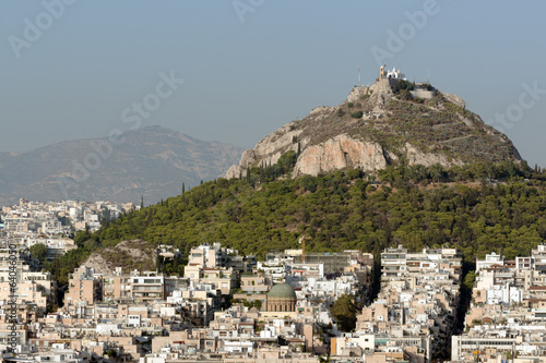 Mount Lycabettus, the highest point in Athens, Greece