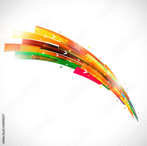 Abstract futuristic colorful lines template, vector illustration
