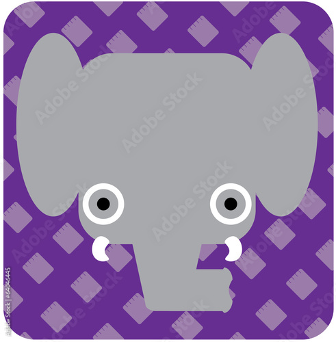 Vector icon illustration of cute animal, elephant
