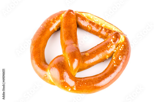 Pretzel isolated white background