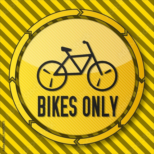 construction bikes only symbol