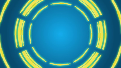 Animated Color circles background, loop 16