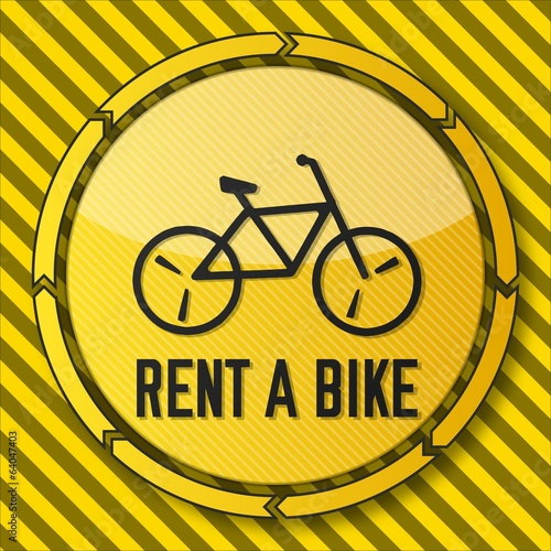 construction rent a bike icon
