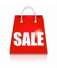 Sale bag. Shopping background.