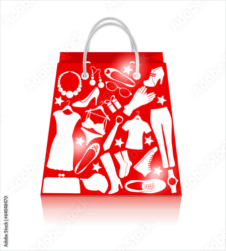 Sale bag. Shopping background.