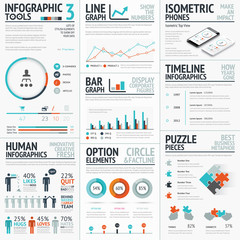 Stunning infographic elements vector set for your projects