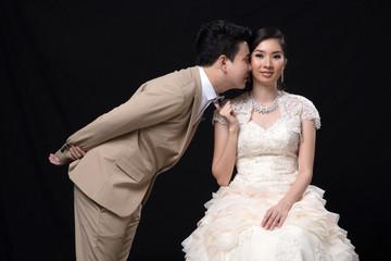 Asian bride and groom wedding