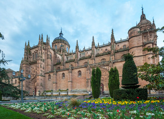 New cathedral (Catedral Nueva) in Salamanca, Spain