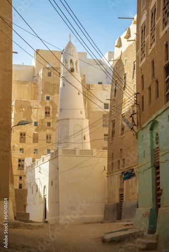 Streets of Shibam, Hadhramaut province, Yemen