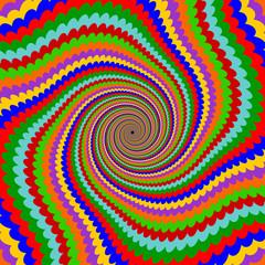 Design multicolor twirl rotation background