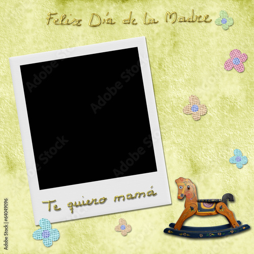 happy mothers day love you mom in spanish photo frame