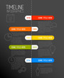 Infographic dark timeline report template with rounded labels