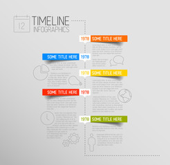 Infographic timeline report template with rounded labels