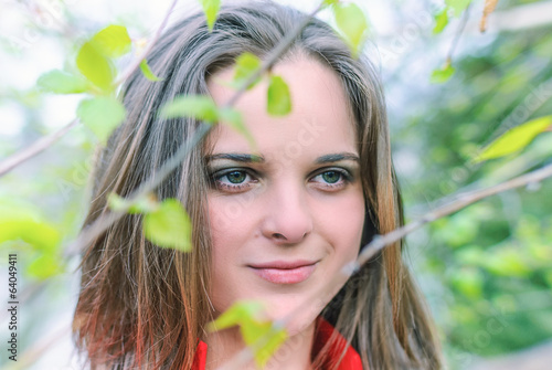 girl on the nature