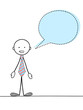STICKMAN SPEAKING WITH SPEECH BUBBLE (contact support service)