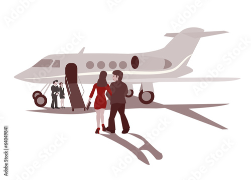 Couple with Airplane