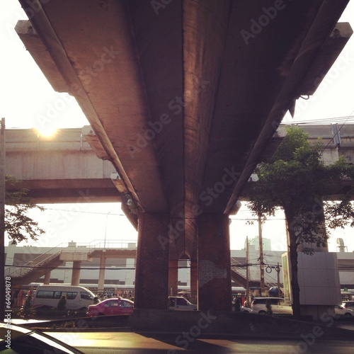 sun light to under bridge