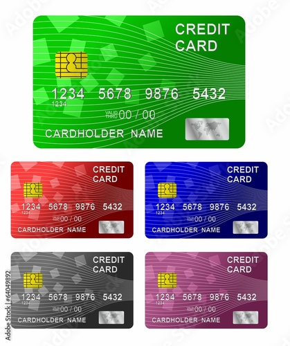 Credit card. Vector