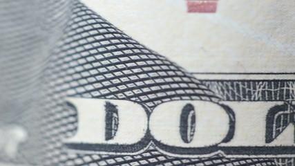 Ten dollars bill macro rotating.