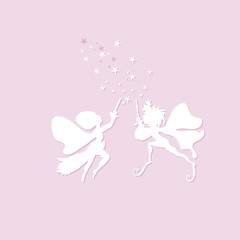 Elf silhouettes decal