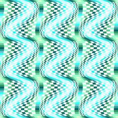 Design seamless colorful movement illusion checked pattern
