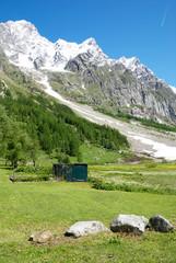 IlMonte Bianco visto dalla Val Ferret
