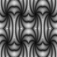 Design seamless monochrome textile pattern