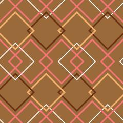 Brown retro seamless pattern