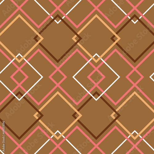 Brown retro seamless pattern