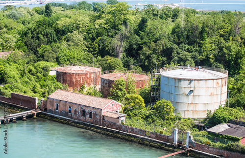 Old Rusty Tanks on Venice Canal
