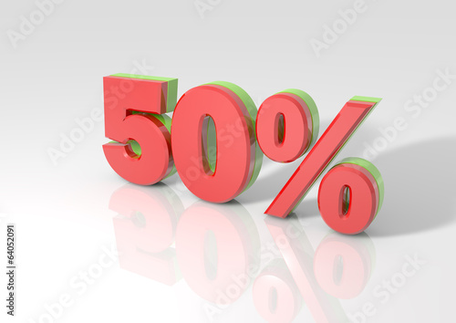 3D rendering of a 50 percent