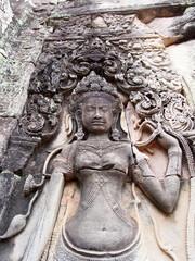 Devata at Bayon in Angkor Thom - Siem Reap, Cambodia
