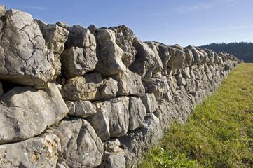 Natursteinmauer im Jura