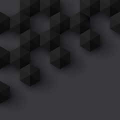 Black geometric vector background.