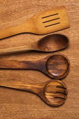 Kitchen. Wooden utensil