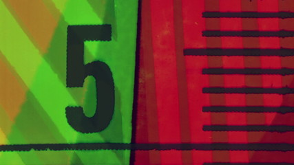 Vintage background of colorful lines end numbers