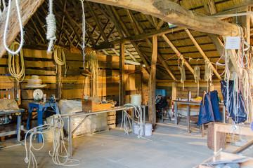 Interieur van een boerderij in Zeijen (Drente)