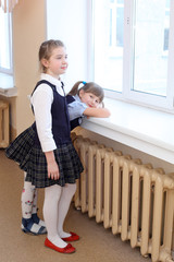 Girls in the school