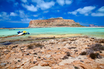 beach at Balos lagoon