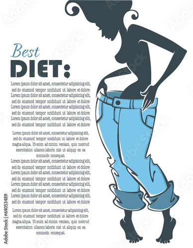 successful diet, vector commercial background