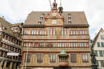 Old rathaus of Tubingen old town, Germany
