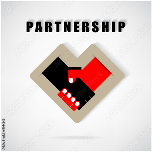 Handshake abstract sign vector design