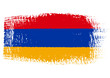 brushstroke flag Armenia