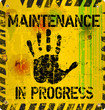 website maintenance warning sign, vector