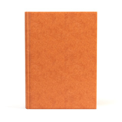 Brown book cover. Isolated on white
